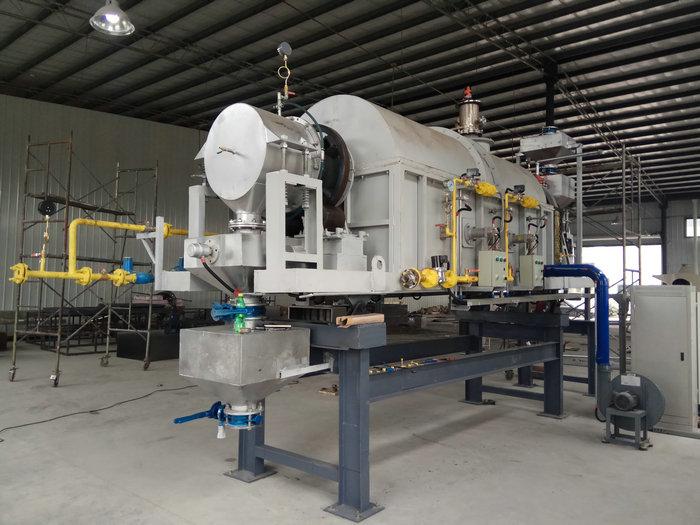 φ0.42-5米燃气气氛回转炉(温度:780℃,用途:电池材料)