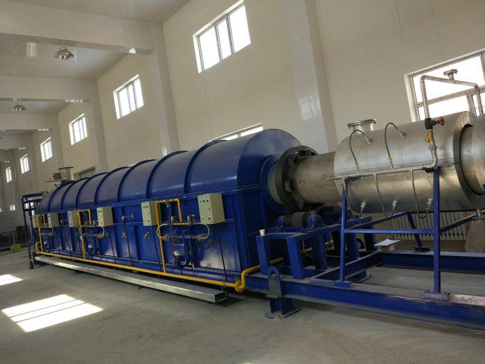 φ0.63x16米天然气回转窑(温度:900℃,用途:稀土)