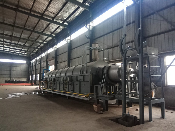 φ0.72x15米天然气外加热回转窑(温度:950℃,用途:化工粉体)