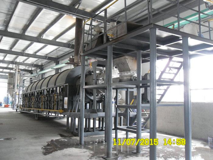 φ950φ922x16米燃气间接加热回转窑(温度:950℃,用途:氢氧化镁)