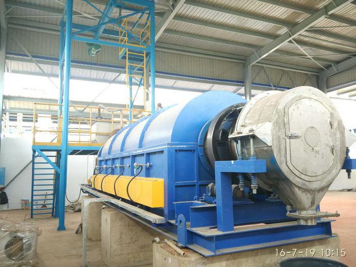 φ0.65x8米电热回转窑(温度:600℃,用途:贵金属粉体)