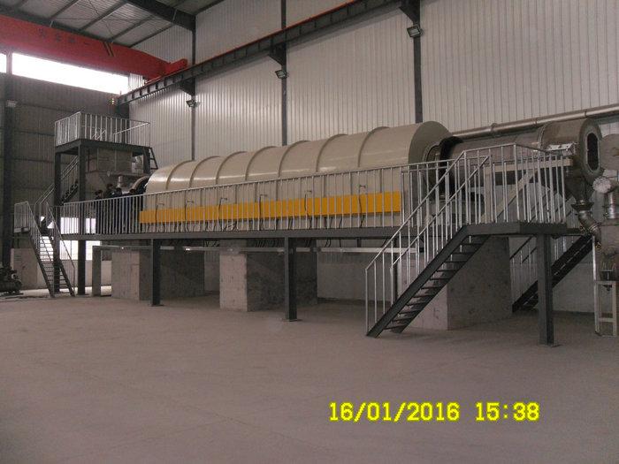 φ0.95x17.5米电热回转窑(温度:900℃,用途:氧化铝粉)